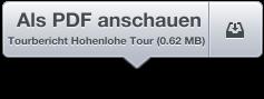 Tourbericht Hohenlohe Tour